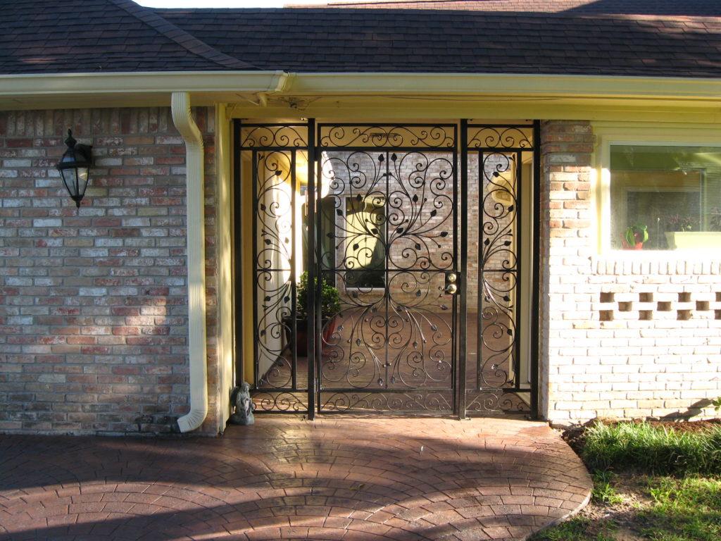 custom iron gate installation