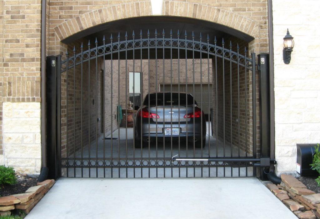 iron gate at a driveway