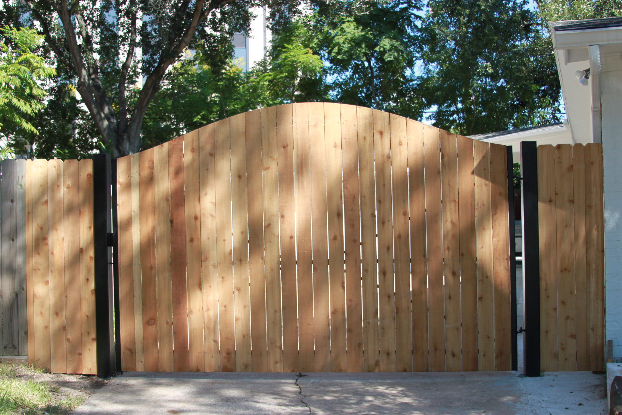 Wooden Arched Gate