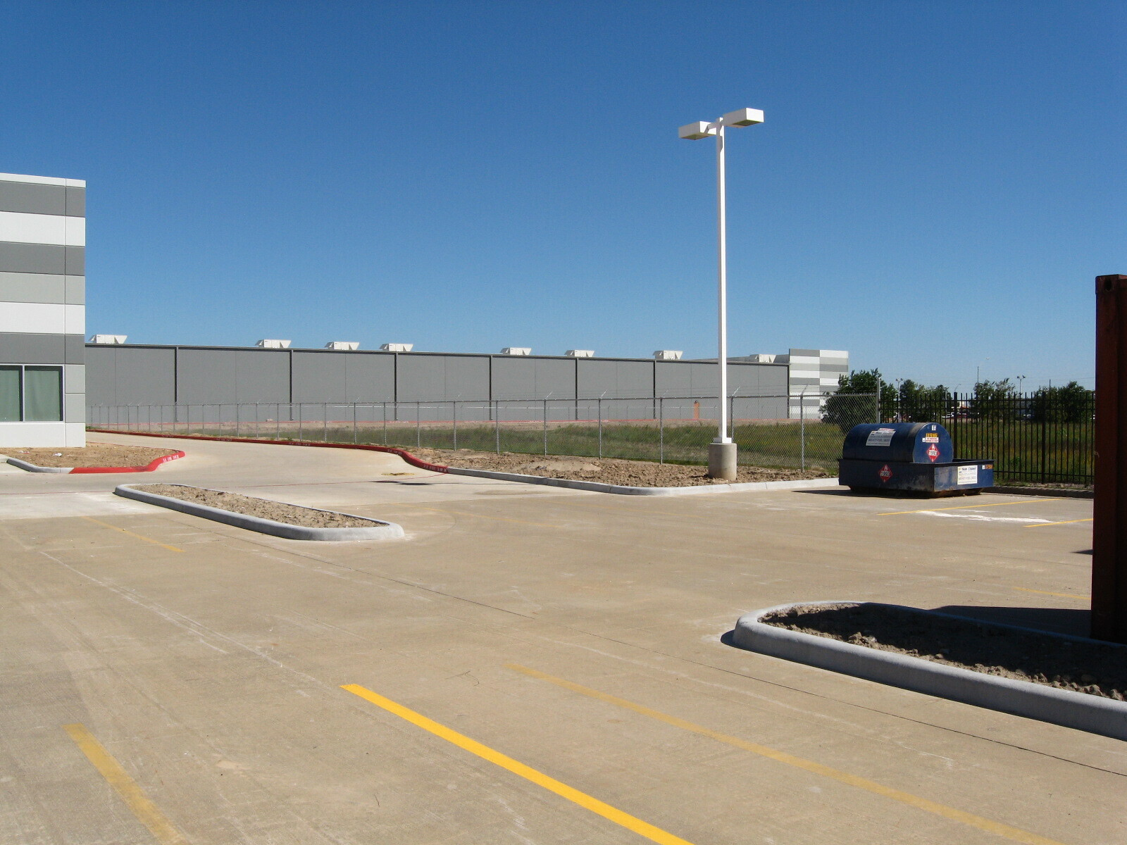 chain link fence at an industrial facility