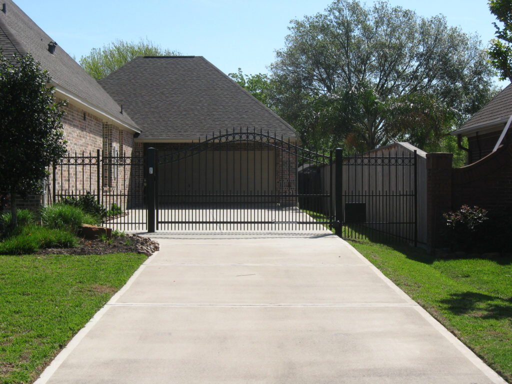 wrought iron fence in a pearland home