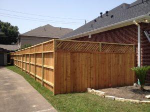 wood fence at a sugar land house