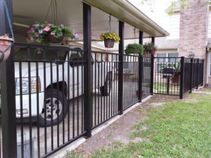 wrought iron fence around a home in sugar land