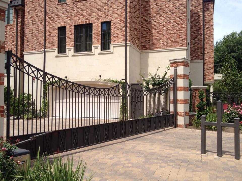 wrought iron gate in houston
