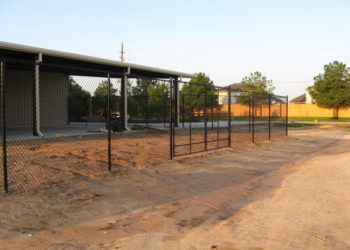commercial chain link fence installation in houston