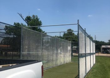 commercial chain link fence in houston texas