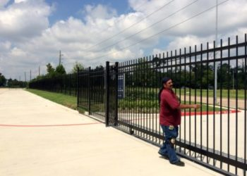 commercial iron fence in houston