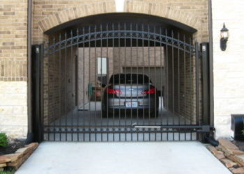 iron gate at a driveway in houston