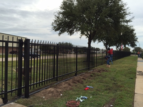 the woodlands wrought iron fence installation