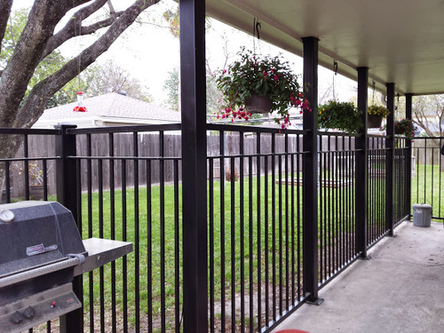 wrought iron fence at a katy home