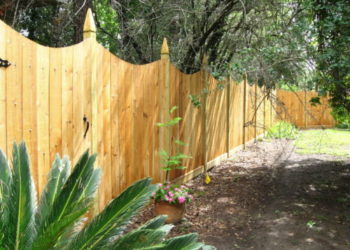 wood fence at a property in houston