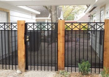 residential iron fence