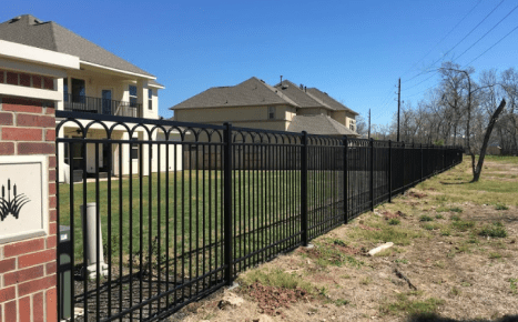 fence installed in houston