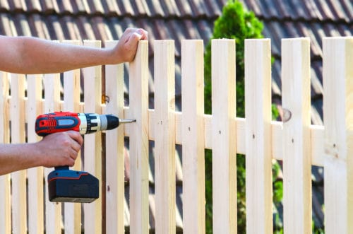 drilling into a fence
