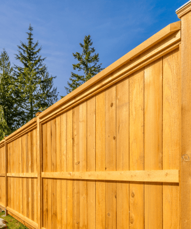 wooden fence in houston
