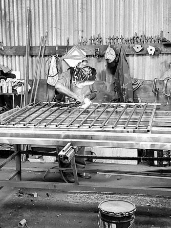 welding a fence