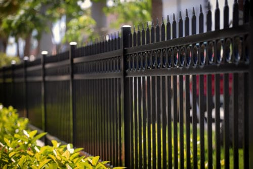 iron fence at a property