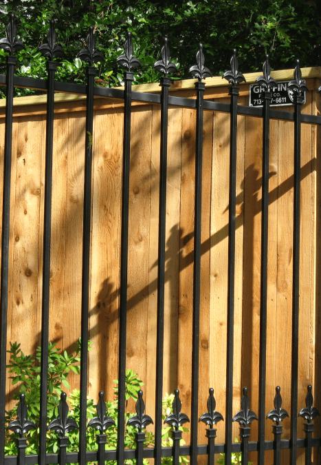 wood iron fence houston