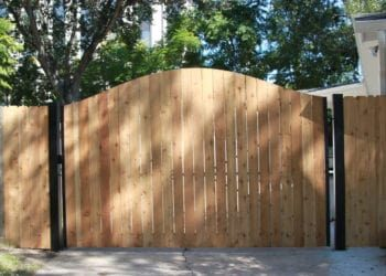 wooden fence installed